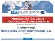 2.místo v kraji pacienti ČR ambulantní Nemocnice Jindřichův Hradec, a.s.