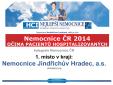 """Ocenění """"Nemocnice ČR 2014 očima hospitalizovaných pacientů - 1. místo"""