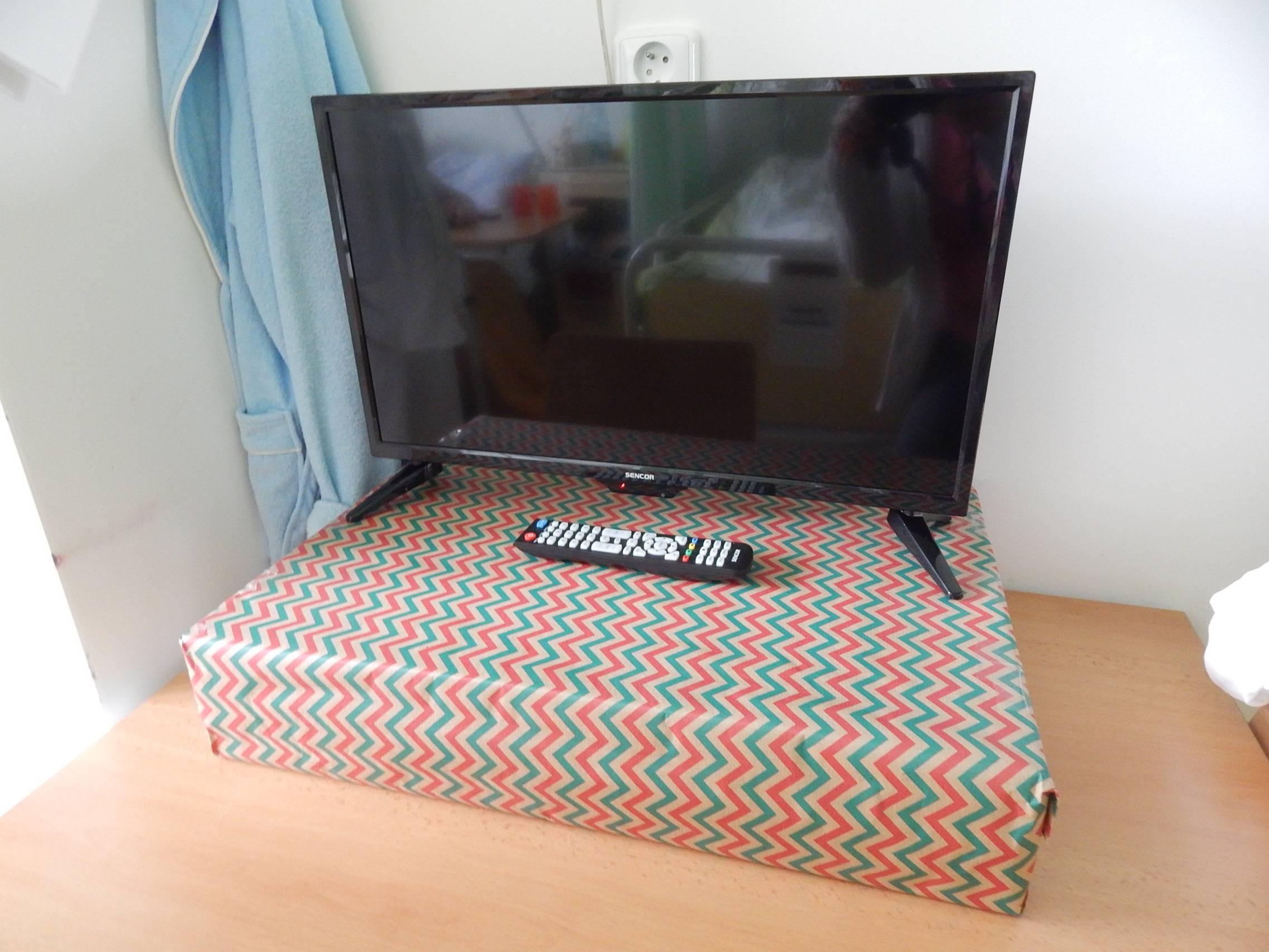 Televizor zakoupení z finančního příspěvku Nadačního fondu rozvoje města Jindřichův Hradec
